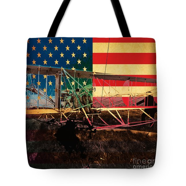 The Wright Bothers An American Original Tote Bag by Wingsdomain Art and Photography