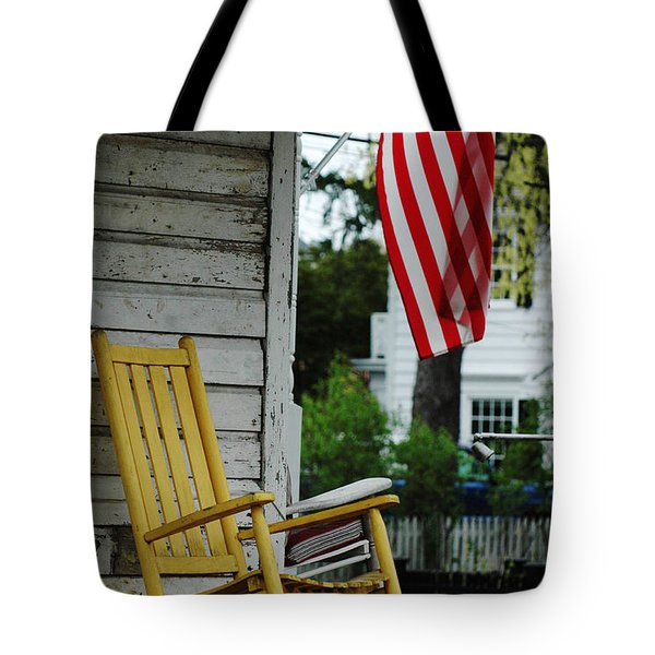 The Yellow Rocking Chair Tote Bag by AdSpice Studios