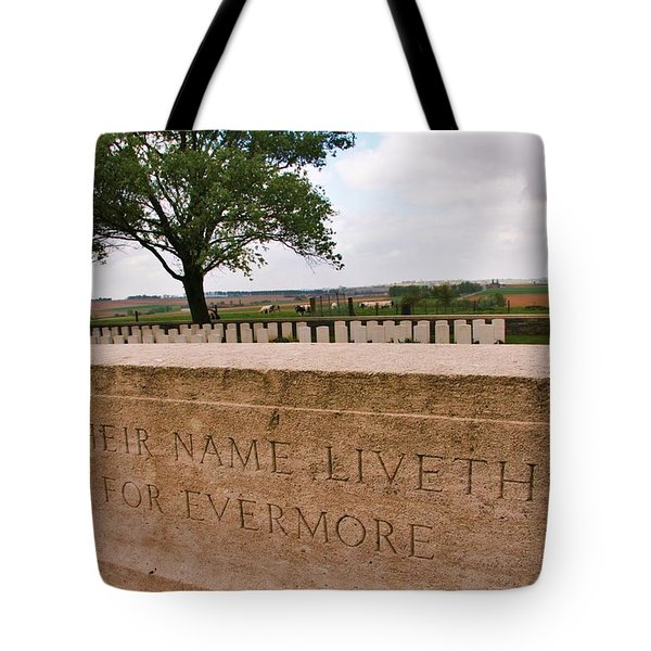Tote Bag featuring the photograph Their Name Liveth For Evermore by Travel Pics
