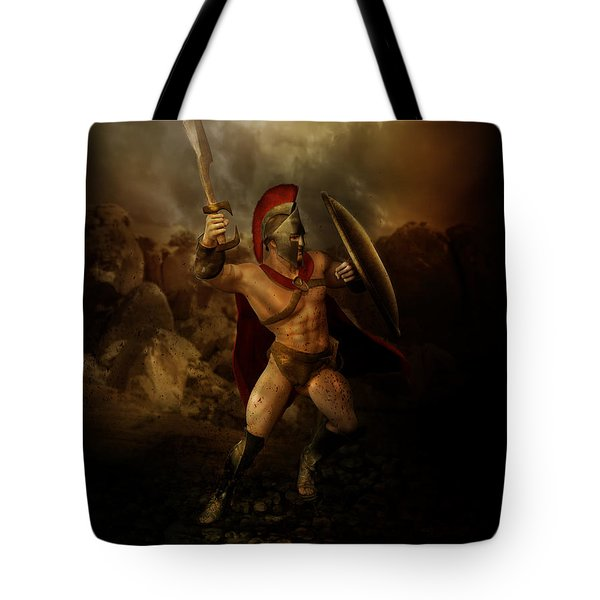 Thermopalyae Tote Bag by Mary Hood