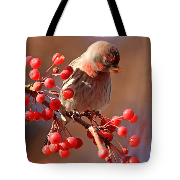These Berries Are Making Me Dizzy  Tote Bag by Donna Kennedy