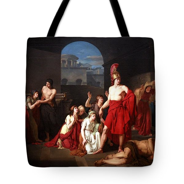 Theseus Victor Of The Minotaur Tote Bag by Charles Edouard Chaise