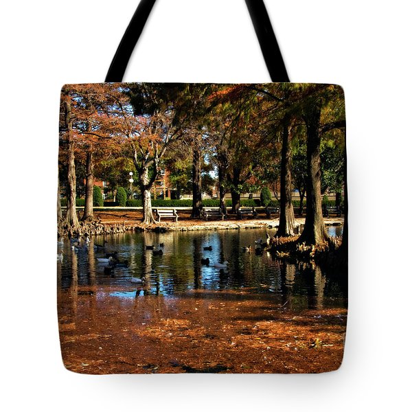 Theta Waterfowl Tote Bag by Lana Trussell