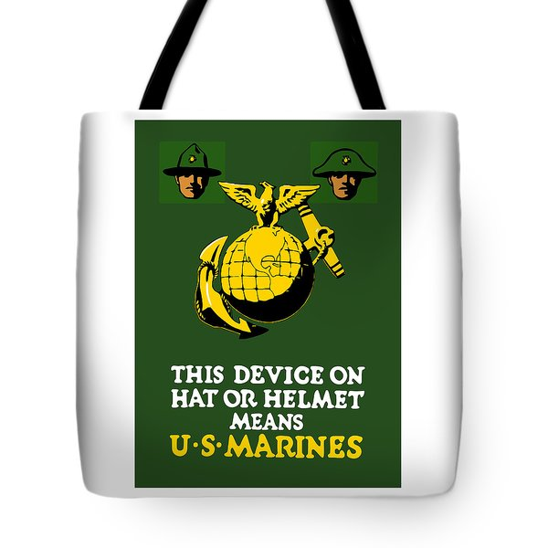 This Device Means US Marines  Tote Bag by War Is Hell Store