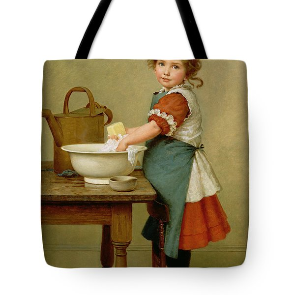 This Is The Way We Wash Our Clothes  Tote Bag by George Dunlop Leslie