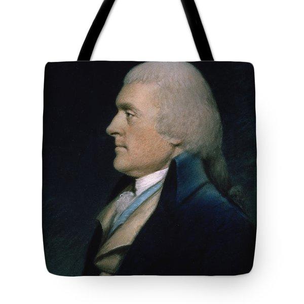 Thomas Jefferson Tote Bag by James Sharples