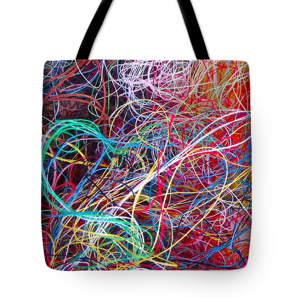 Thread Collection Tote Bag by Gwyn Newcombe