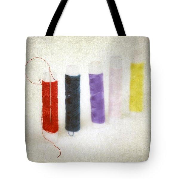 Thread Reels Tote Bag by Joana Kruse