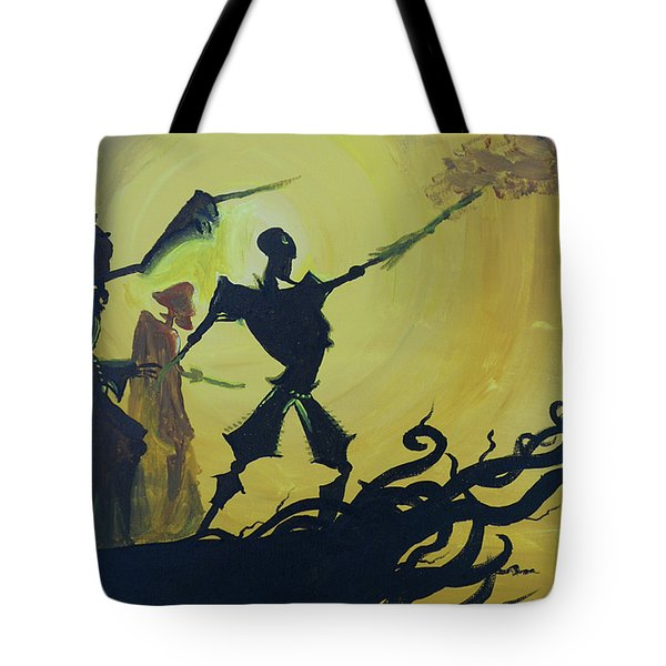Three Brothers Tote Bag by Lisa Leeman
