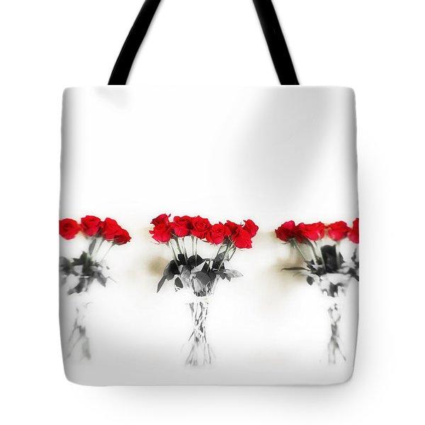 Three Dozen Roses Tote Bag by Scott Pellegrin
