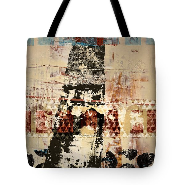 Three Faces Tote Bag by Carol Leigh