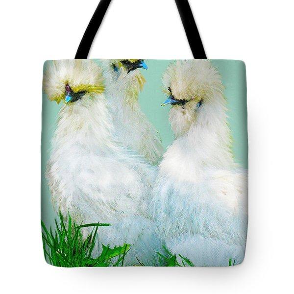 Three Silky Ladies Tote Bag by Jane Schnetlage
