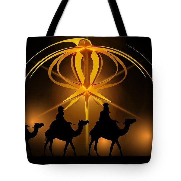 Three Wise Men Christmas Card Tote Bag by Bellesouth Studio