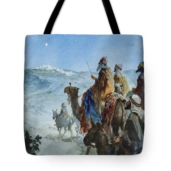 Three Wise Men Tote Bag by Henry Collier