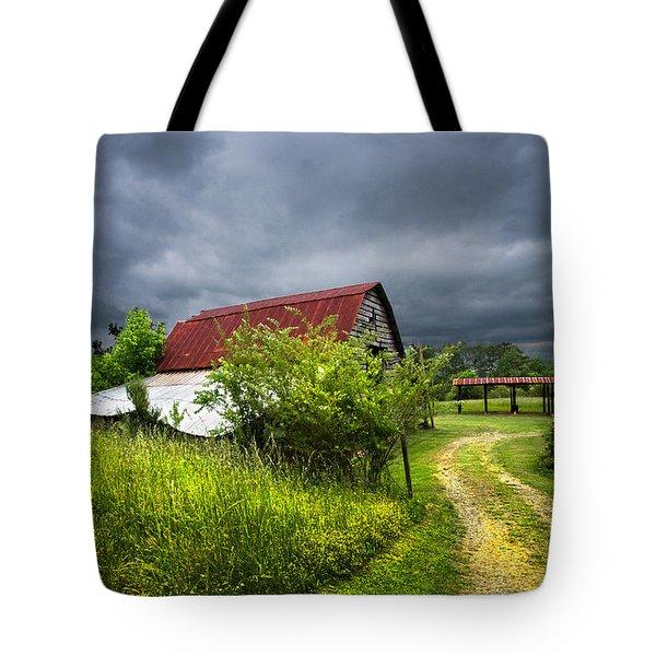 Thunder Road Tote Bag by Debra and Dave Vanderlaan