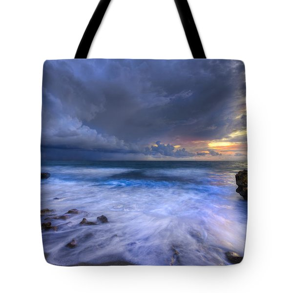 Thunder Tides Tote Bag by Debra and Dave Vanderlaan