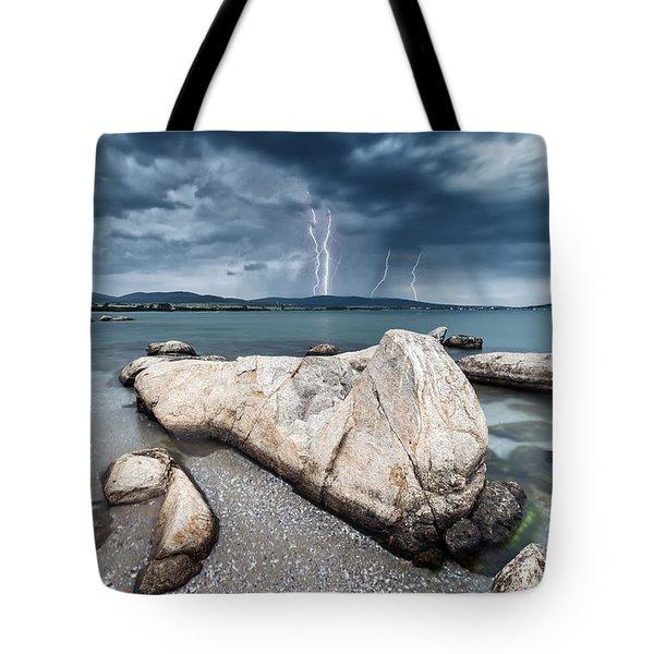 Thunderstorm  Tote Bag by Evgeni Dinev