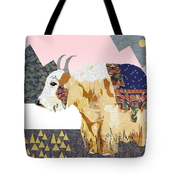 Tibet Yak Collage Tote Bag by Claudia Schoen