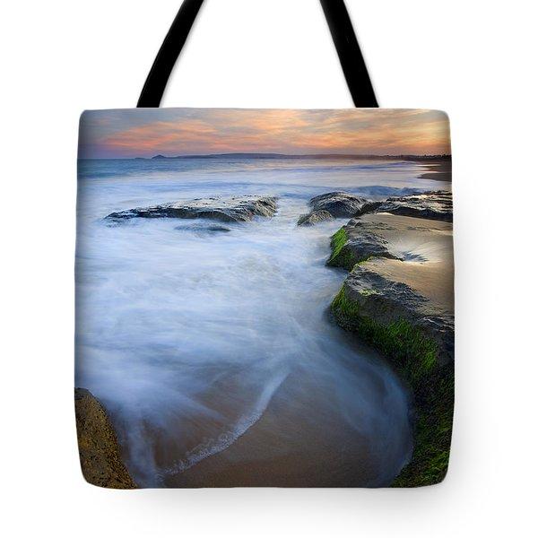 Tidal Bowl Tote Bag by Mike  Dawson