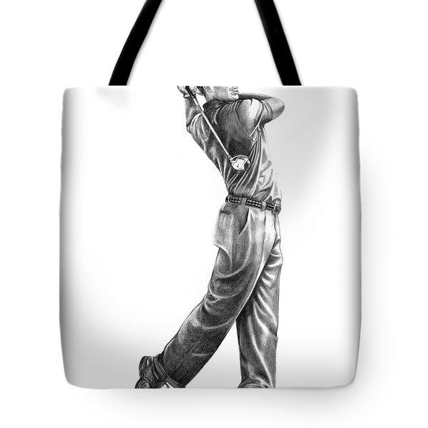Tiger Woods Full Swing Tote Bag by Murphy Elliott