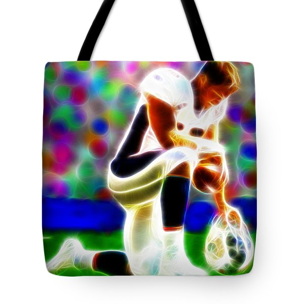 Tim Tebow Magical Tebowing 2 Tote Bag by Paul Van Scott