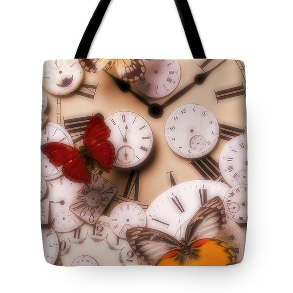 Time flies Tote Bag by Garry Gay