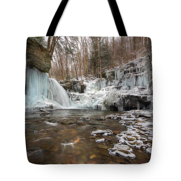 Time Is A Stream Tote Bag by Lori Deiter