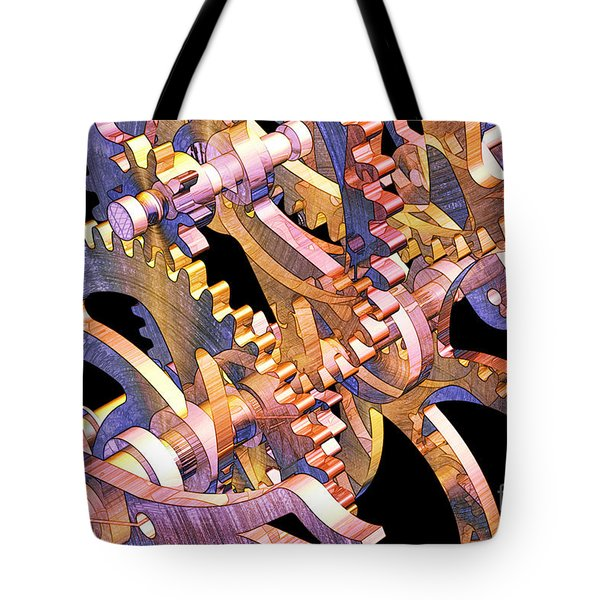 Time Mechanics V1 Tote Bag by Michael Geraghty