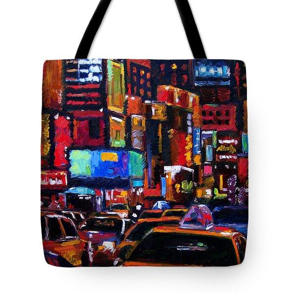 Times Square Tote Bag by Debra Hurd