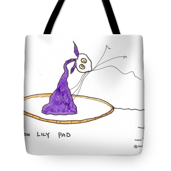 Tis On Lily Pad Tote Bag by Tis Art