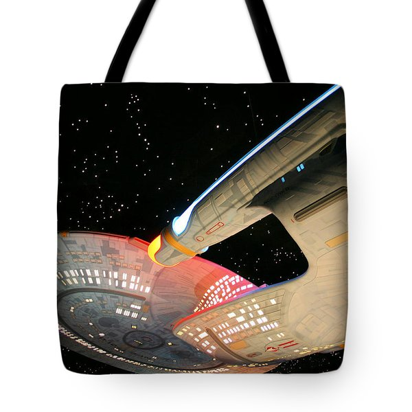 To Boldly Go Tote Bag by Kristin Elmquist
