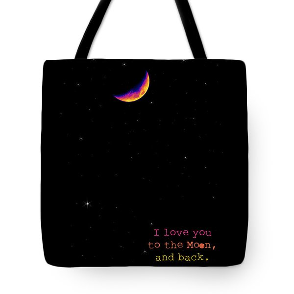 To The Moon And Back Tote Bag by Rheann Earnest