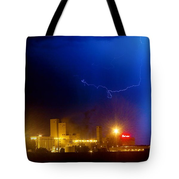 To The Right Budweiser Lightning Strike Tote Bag by James BO  Insogna