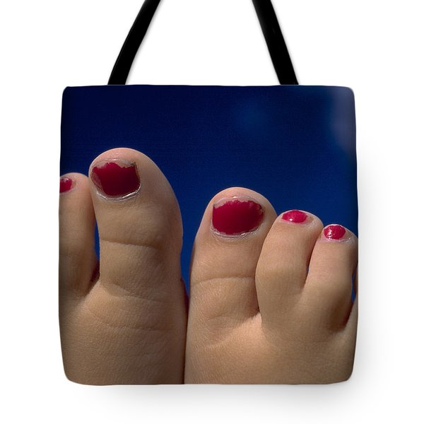 Toes Tote Bag by Michael Mogensen