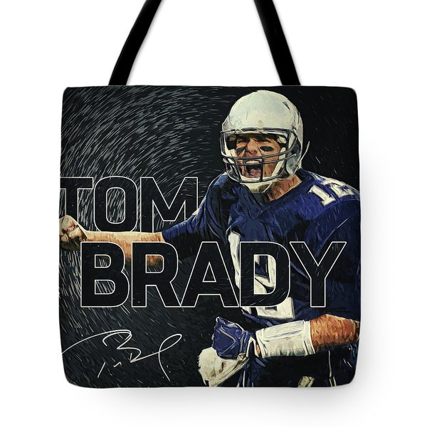 Tom Brady Tote Bag by Taylan Soyturk