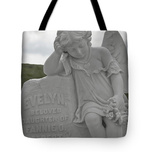 Tombstone Angel For An Angel Tote Bag by Christine Till