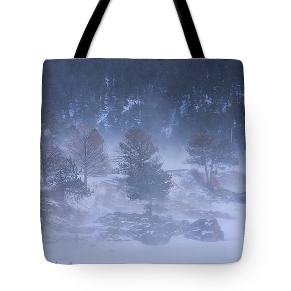Top Of Boulder Canyon Winter Snow Tote Bag by James BO  Insogna