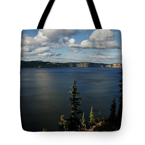 Top wow spot - Crater Lake in Crater Lake National Park Oregon Tote Bag by Christine Till