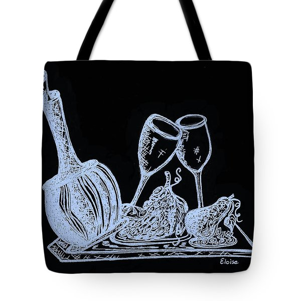 Topsy Turvy Tray - First Kiss Tote Bag by Eloise Schneider