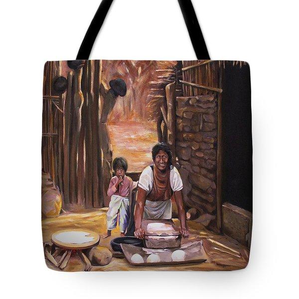 Tortillas De Madre Tote Bag by Nancy Griswold