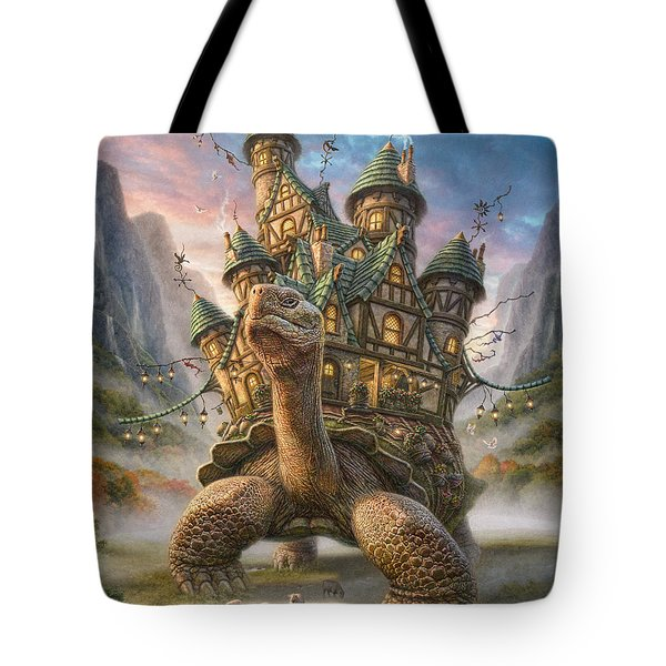 Tortoise House Tote Bag by Phil Jaeger