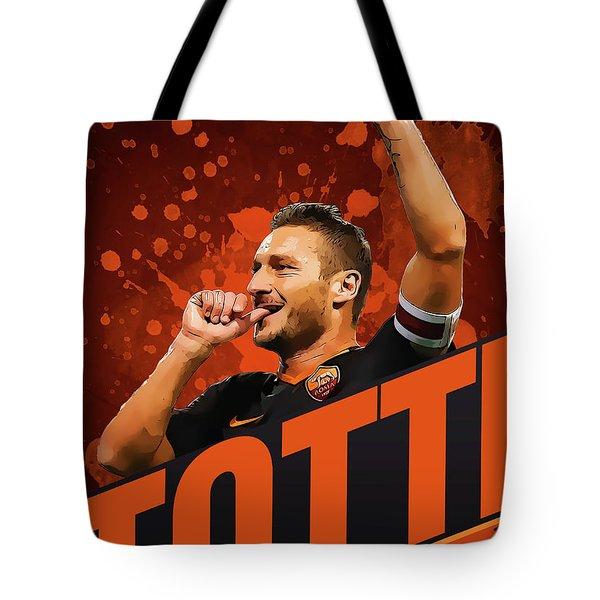Totti Tote Bag by Semih Yurdabak
