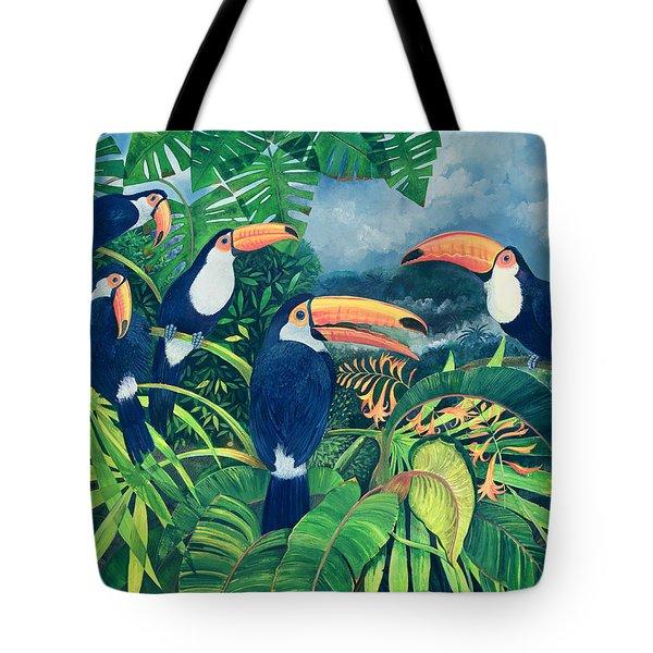 Toucan Talk Tote Bag by Lisa Graa Jensen