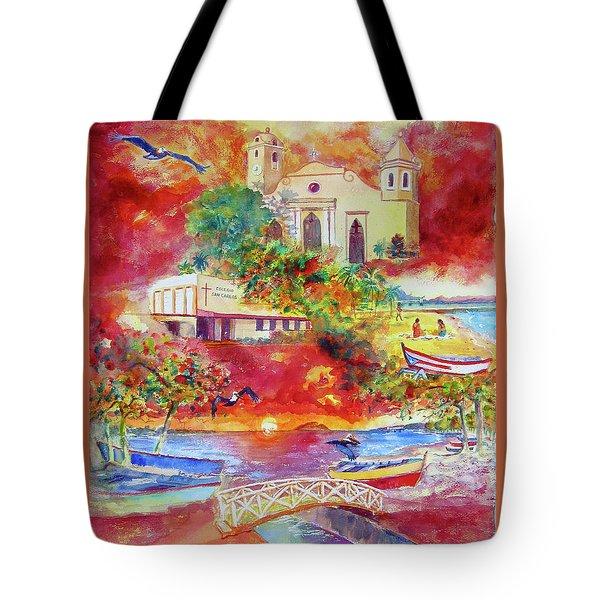 Tour Around Aguadilla Puerto Rico Tote Bag by Estela Robles