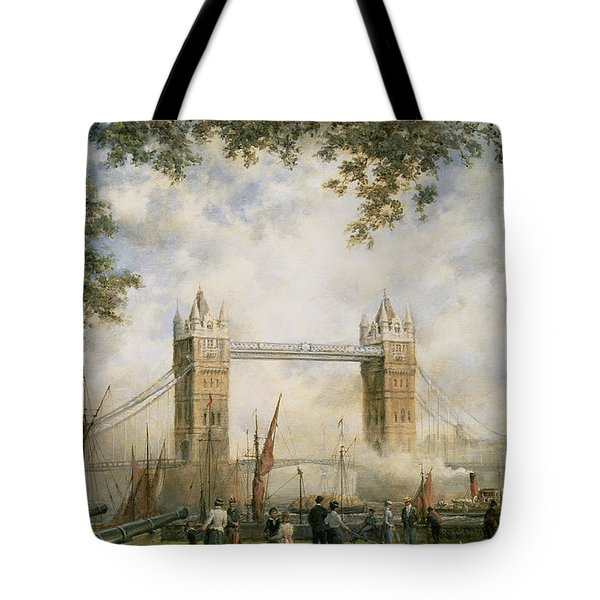 Tower Bridge - From The Tower Of London Tote Bag by Richard Willis