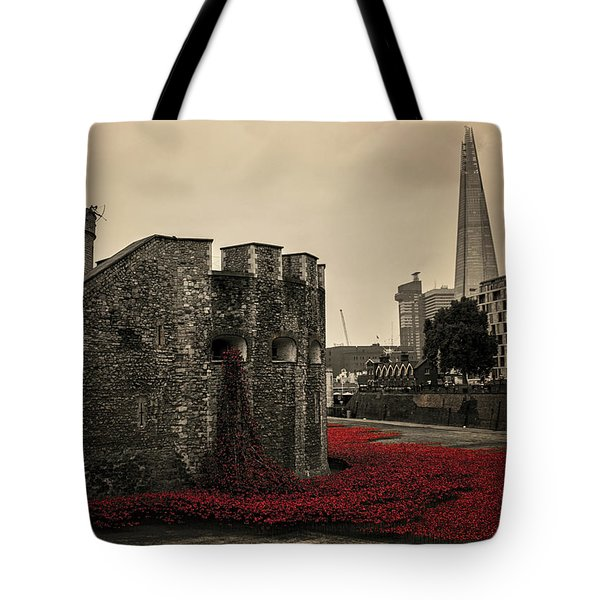 Tower Of London Tote Bag by Martin Newman