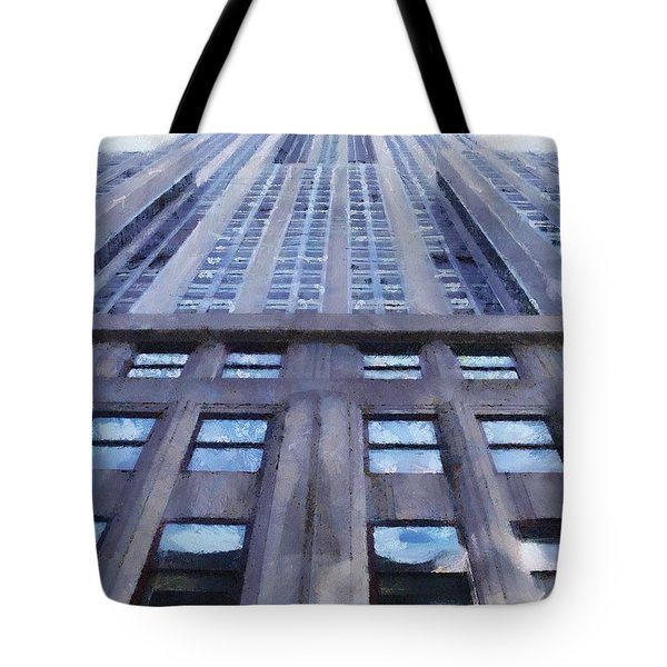 Tower Of Steel And Stone Tote Bag by Jeff Kolker