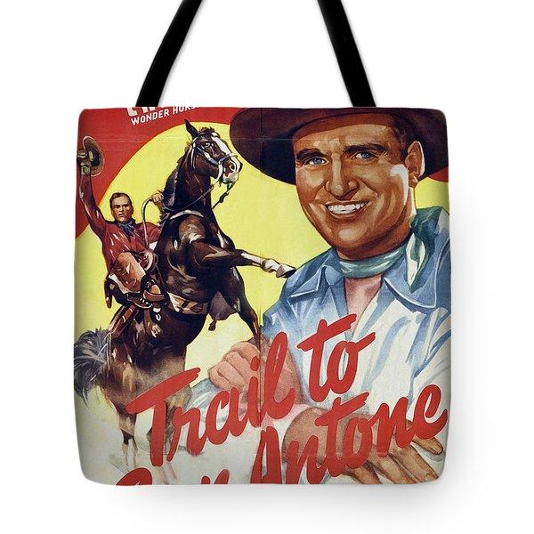 Trail To San Antone Tote Bag by Studio Artist