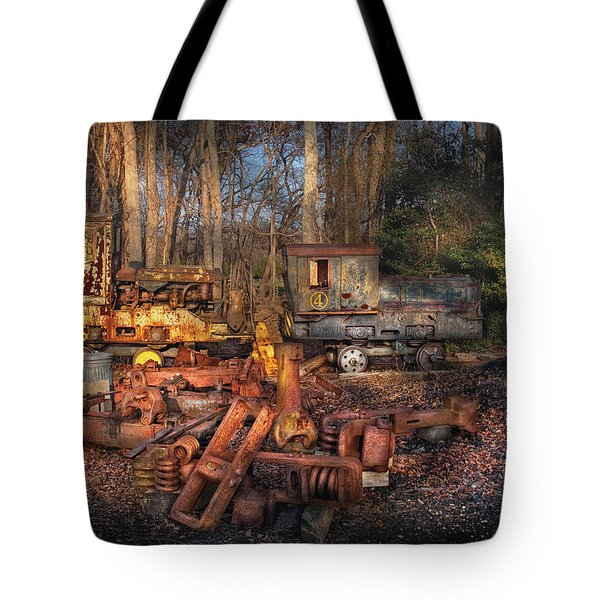 Train - Yard - Do it yourself kit Tote Bag by Mike Savad