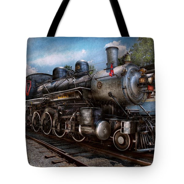 Train - Steam - 385 Fully Restored Tote Bag by Mike Savad